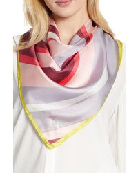kate spade new york Concentric Spade Square Silk Scarf