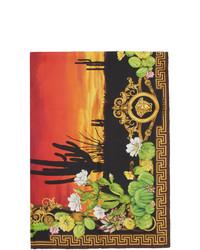 Versace Multicolor Silk Palm Springs Scarf