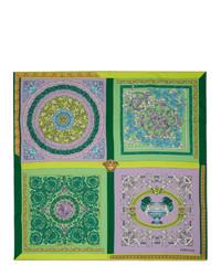Versace Purple Silk Barocco Mosaic Scarf