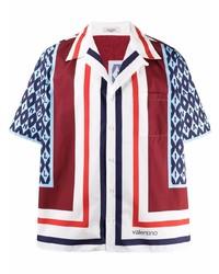 Valentino Colour Block Short Sleeve Shirt