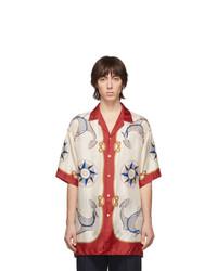 Gucci Multicolor Silk Compass Rose Shirt