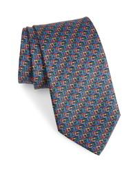 Salvatore Ferragamo Linked Gancio Silk Tie