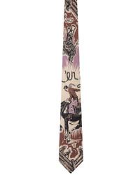 Paul Smith Purple Silk Cowboy Tie