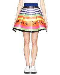 Fyodor Golan Press Play Poppy Stripe Trapeze Skirt