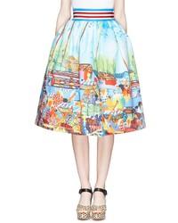 Nobrand Lumaca Market Print Pouf Skirt