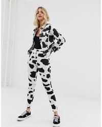 Parisian Cow Print Jeggings