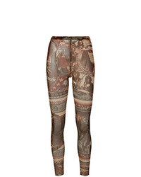 Jean Paul Gaultier Vintage Printed Sheer Fitted Trousers