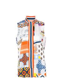 Tory Burch Printed Sleeveless Blouse