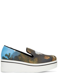 Stella McCartney Multicolor Horse Painting Binx Slip On Sneakers