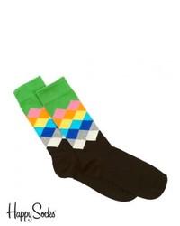 Happy Socks Faded Diamonds Socks Multi