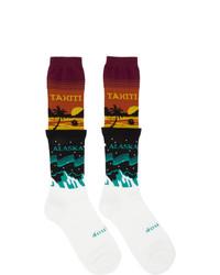 Doublet Multicolor Temperature Layered Socks