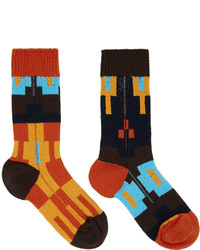 Sacai Orange Nordic Socks
