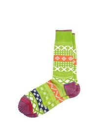 Robert Graham Opal Multi Print Socks Foliage