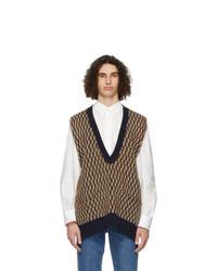 MAISON KITSUNÉ Multicolor Jacquard Pullover Sweater Vest