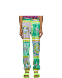 Versace Multicolor Barocco Mosaic Lounge Pants