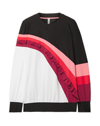 NO KA 'OI Nalu Nau Ruffled Color Block Stretch Sweatshirt