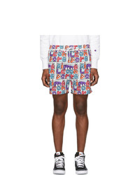 Multi colored Print Swim Shorts