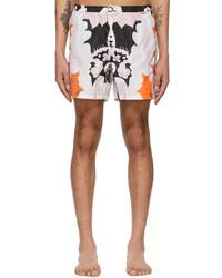Valentino Black Pink World Arazzo Print Swim Shorts