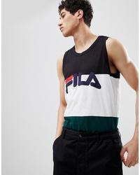 Fila Black Line Vest With Logo In White