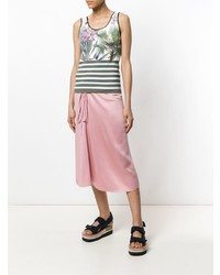 Marc Cain Floral Striped Tank Top