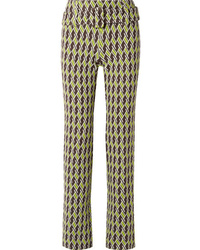 Prada Jacquard Knit Straight Leg Pants