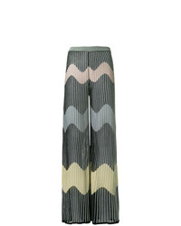 M Missoni Embroidered Flared Trousers