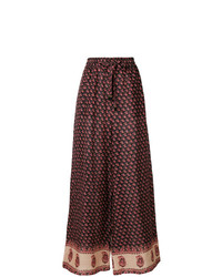 Zimmermann Jaya Printed Wide Leg Trousers