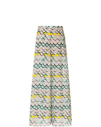 M Missoni Printed Flared Trousers