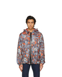 McQ Blue And Orange Hooded Jacket