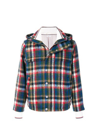 Thom Browne Gingham Tartan Down D Hairy Mohair Tech Jacket