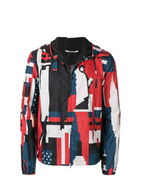 Valentino New York Print Hooded Jacket