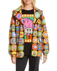 Moschino X Good Luck Trolls Print Nylon Windbreaker Jacket