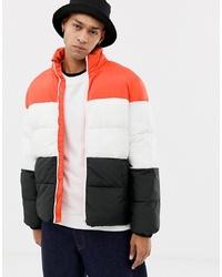 YOURTURN Colour Block Puffer Jacket
