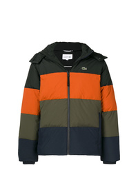 Lacoste Colour Block Striped Puffer Jacket