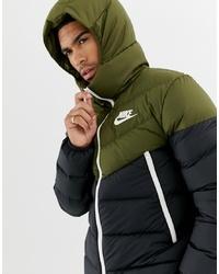 Nike Down D Hooded Jacket In Green 928833 395