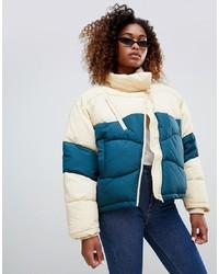 Weekday Short Colour Block Padded Jacket