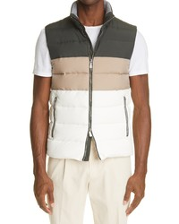 Eleventy Loro Piana Storm System Water Resistant Colorblock Quilted Vest