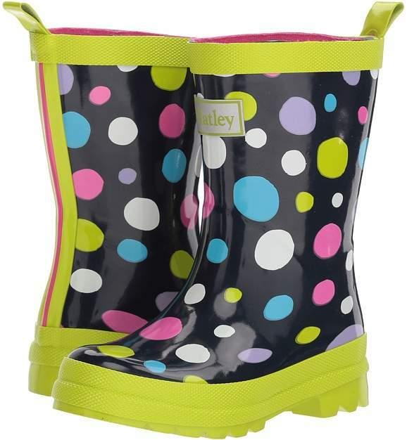 Hatley Kids Sunny Dots Rain Boots Girls Shoes