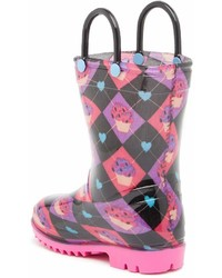 Lilly Of New York Black Cupcakes Rain Boot