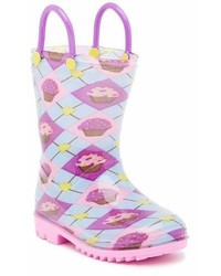 Lilly Of New York Blue Cupcakes Rain Boot