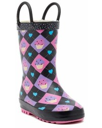 Lilly Of New York Matte Argyle Cupcake Rain Boot