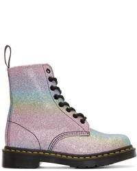 Dr. Martens Multicolor Pascal Rainbow Glitter Boots