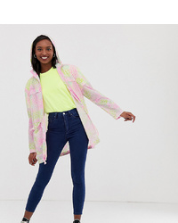 Asos Tall Asos Design Tall Pac A Mac Rain Jacket In Animal Print