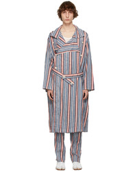 Maison Margiela Multicolor Linen Stripe Trench Coat