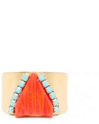 Dailylook Sandy Hyun Vintage Glass Crystal Ring In Multi Colored