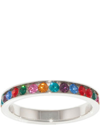 Sparkle Allure Silver Plated Multi Crystal Eternity Ring