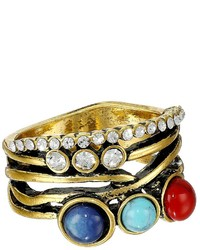 Sam Edelman Wild Child Multi Stone Stack Ring