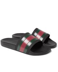 Gucci Striped Rubber Slides
