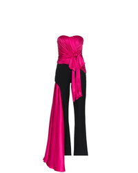 Moschino Sleeveless Bust Wool Jumpsuit