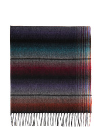 Paul Smith Multicolor Wool Gradient Stripe Scarf